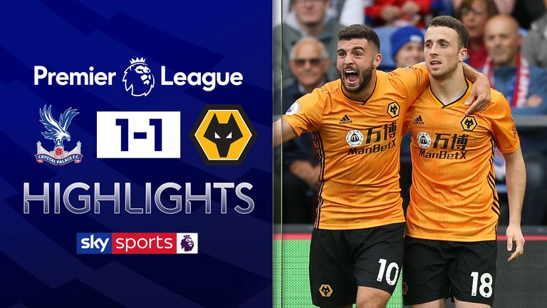 Wolves draw with Crystal Palace