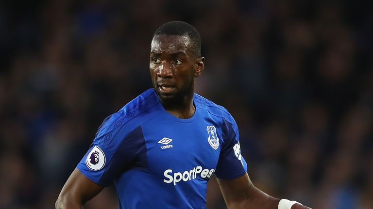 Yannick Bolasie of Everton in action during the Premier League match between Everton and Newcastle United at Goodison Park on April 23, 2018 in Liverpool, England.