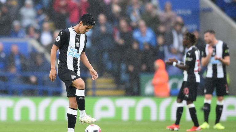Yoshinori Muto was unable to provide Newcastle with attacking thrust