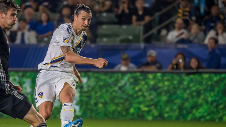 Ibrahimovic firing home one of his three goals
