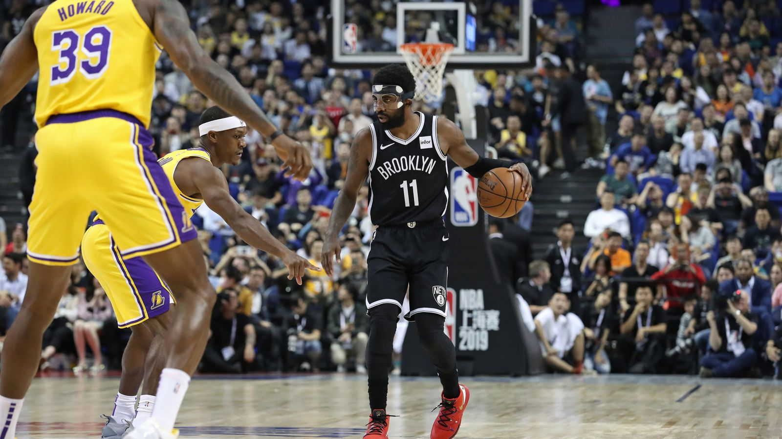 Kyrie Irving forced out of Nets-Lakers exhibition after ...