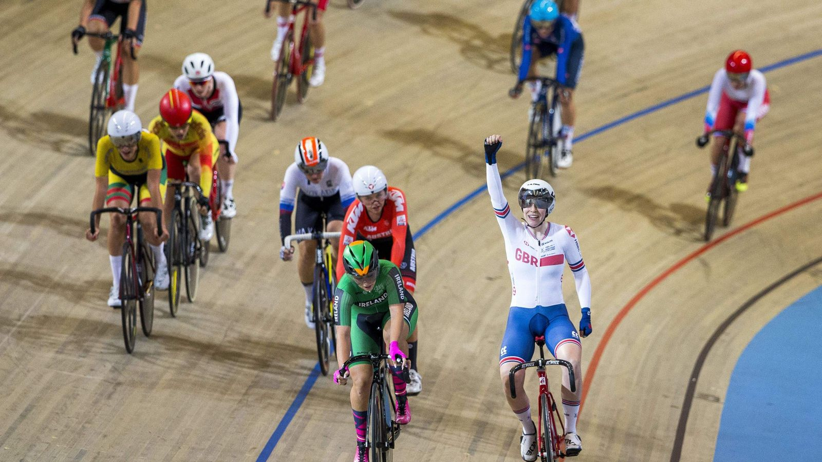 Britain's Emily Nelson wins first gold at the European Track Cycling Championships