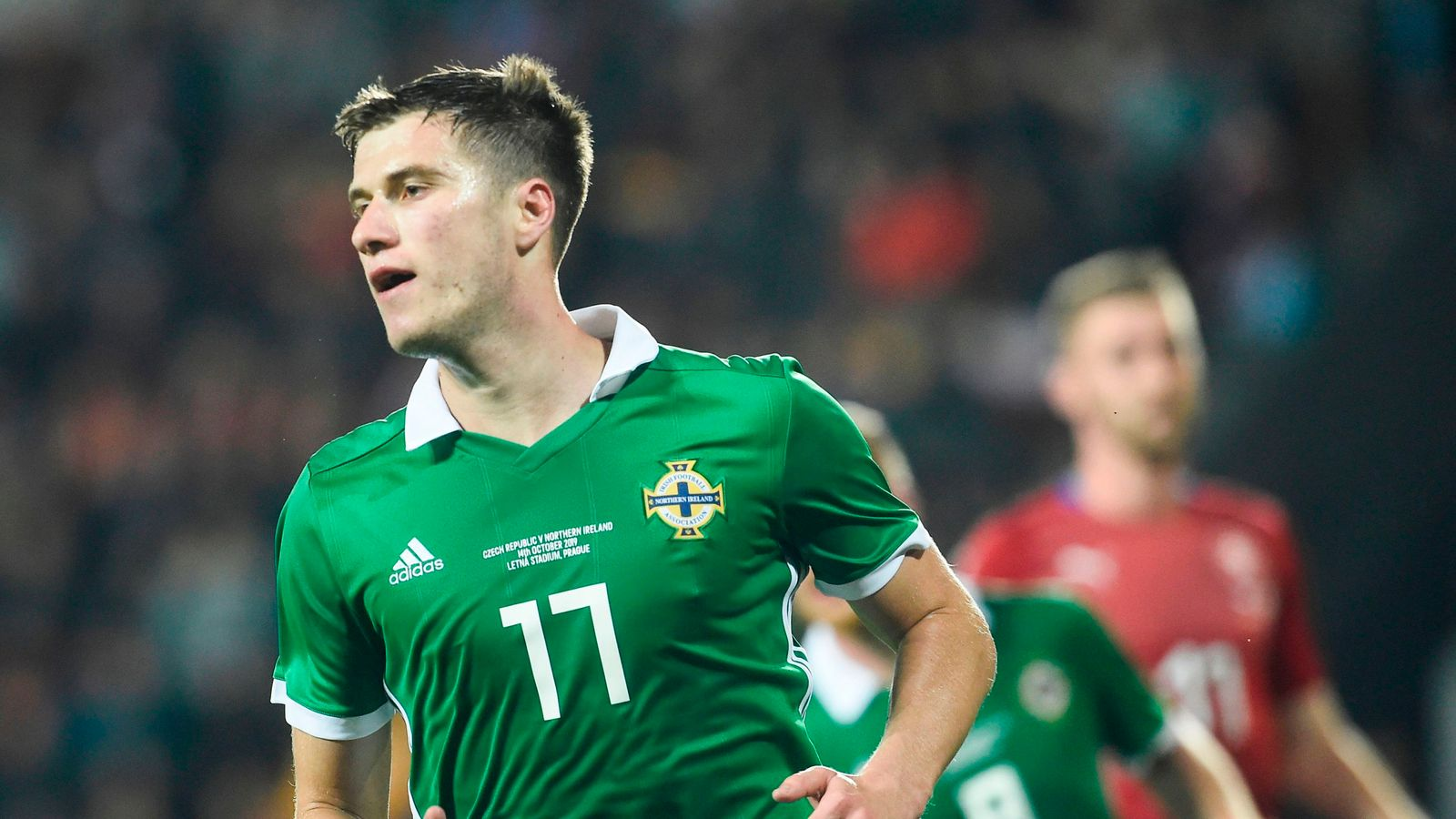 Czech Republic 2-3 Northern Ireland: Paddy McNair scores twice as visitors survive fightback