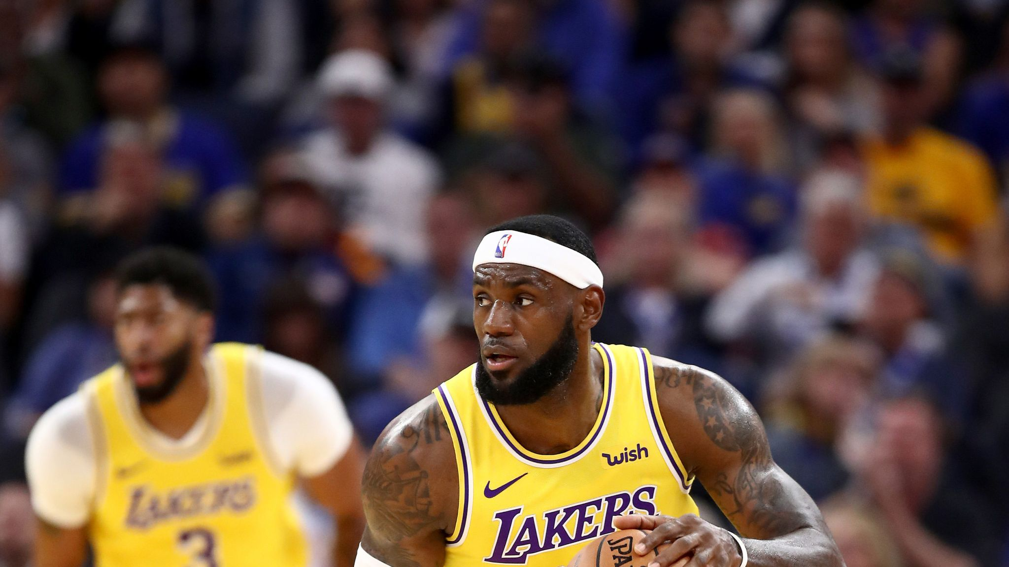 Speaking After The Los Angeles Lakers Preseason Win Over Golden State Lebron James Said His Chemistry With Anthony Davis Has Been Very Good