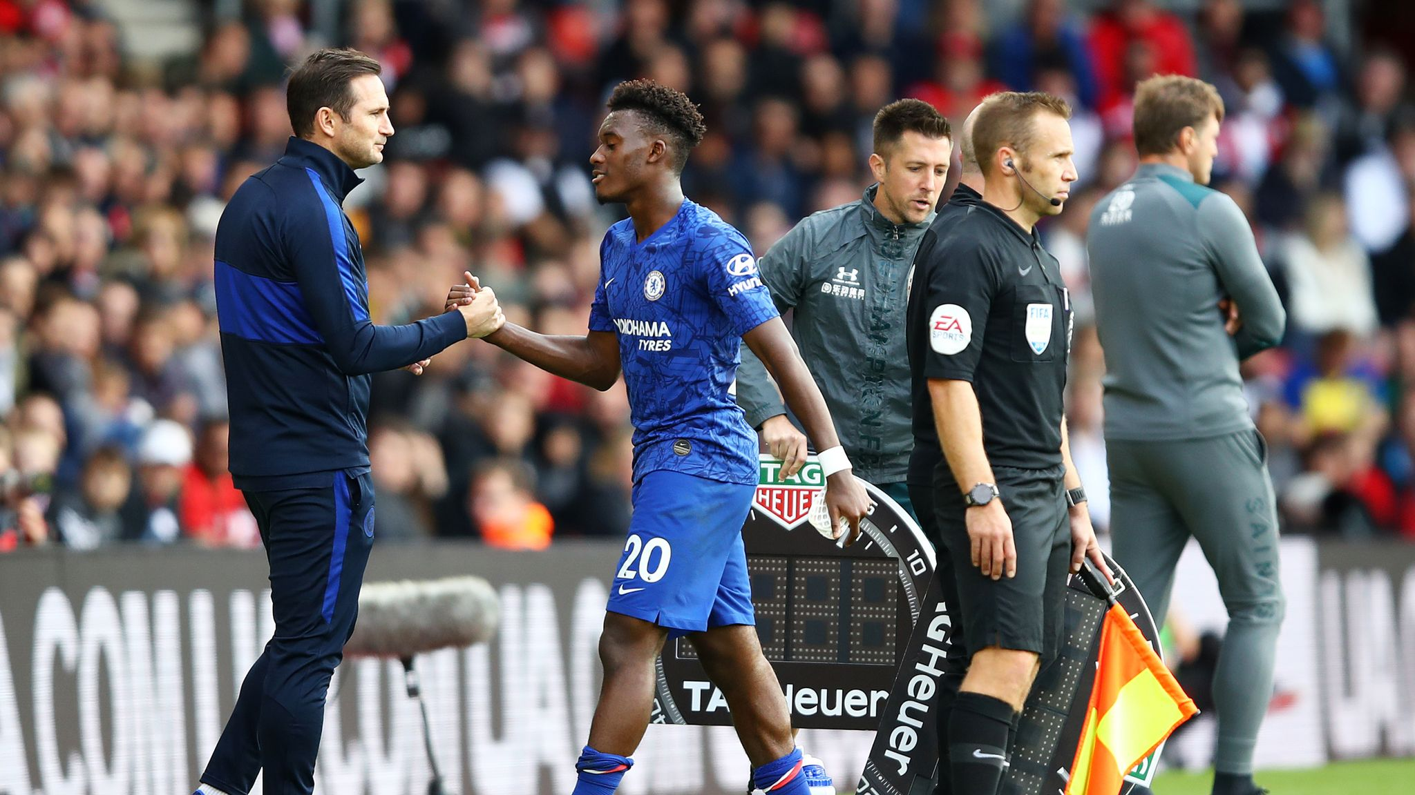 Image result for hudson odoi and lampard