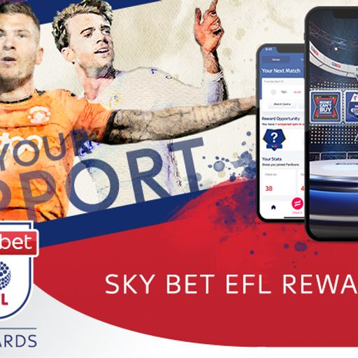 Win prizes with the Sky Bet EFL rewards app!