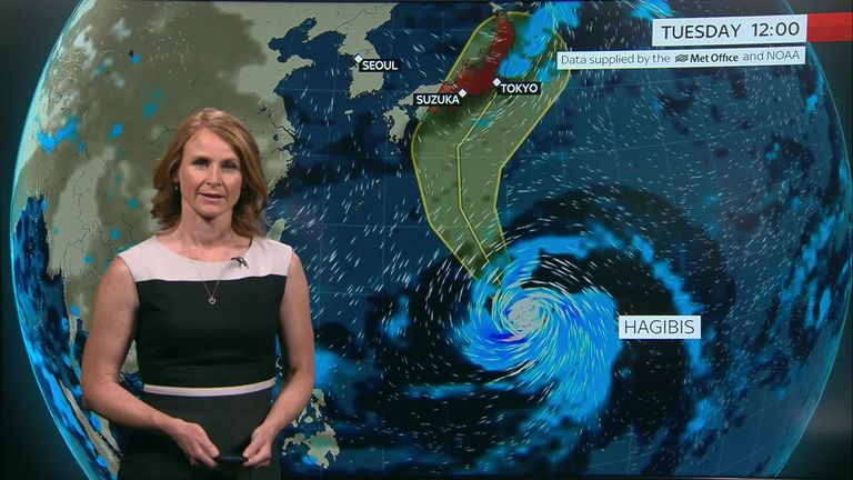 Super Typhoon Hagibis could bring disruption at the Rugby World Cup and the Japanese Grand Prix