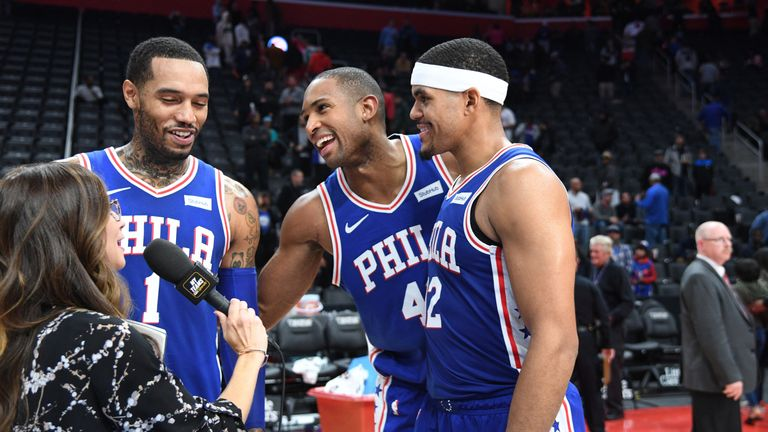 Tobias Harris and Al Horford power 76ers past Pistons | NBA News ...