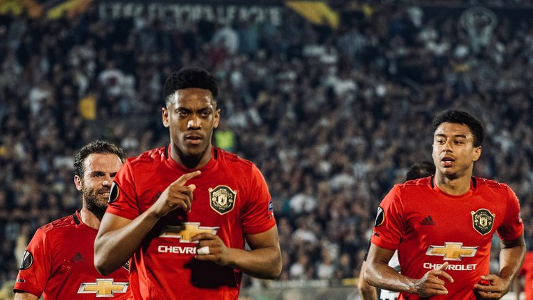 Anthony Martial scored from the spot to give United the lead