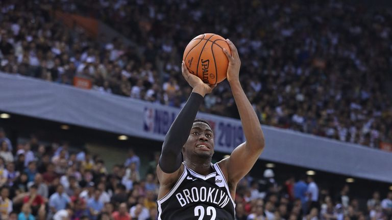 Caris LeVert en route to 22 points against the Lakers in Shenzen