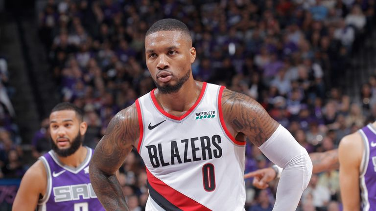 Damian Lillard prepares for a free throw