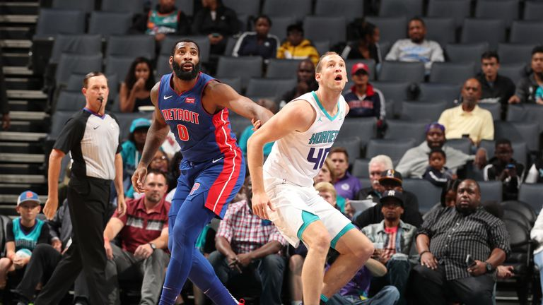 Andre Drummond and Cody Zeller battle for a rebound
