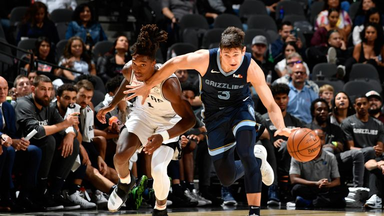 Grayson Allen is chased by Lonnie Walker