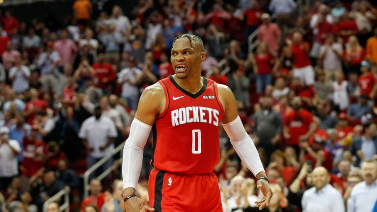 Russell Westbrook and James Harden combine for thunderous dunk | NBA News |