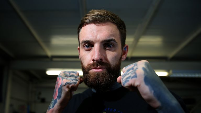 Aaron Chalmers poses for a portrait after the Aaron Chalmers and Paulie Malignaggi Training Session at the Peacock Gym on November 01, 2018 in London, England