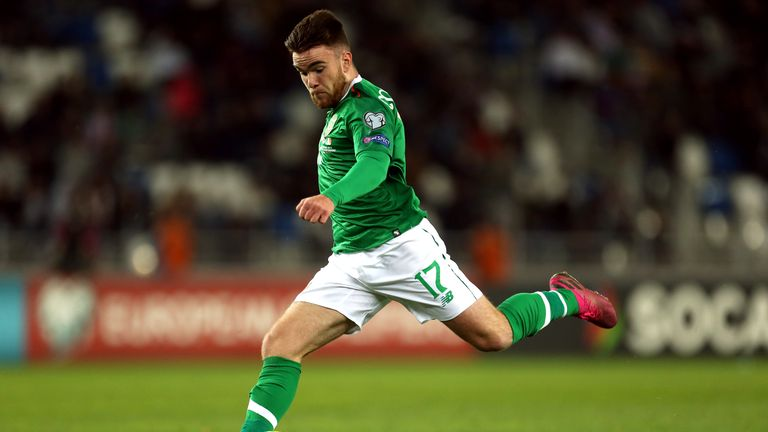 Aaron Connolly made his Republic of Ireland debut off the bench against Georgia
