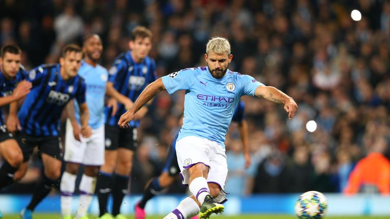Aguero completed his quickfire double from the penalty spot after 38 minutes