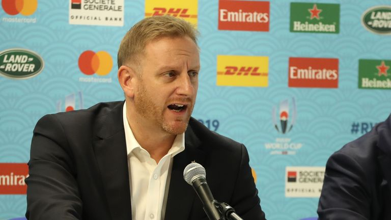 Alan Gilpin, Rugby World Cup tournament director, cancelled Tests outright despite talk of 'contingency plans'