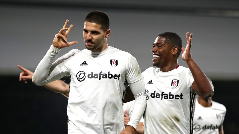 Aleksandar Mitrovic scored a hat-trick for Fulham