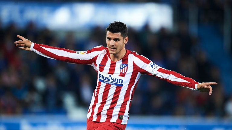 Alvaro Morata made it three goals in as many games for Atletico Madrid