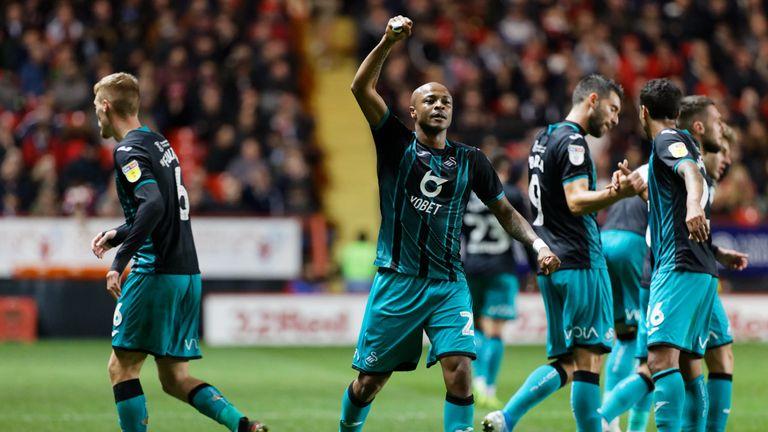Andre Ayew scored the winner for Swansea