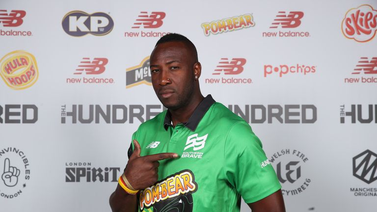 Andre Russell was selected by Southern Brave in The Hundred draft
