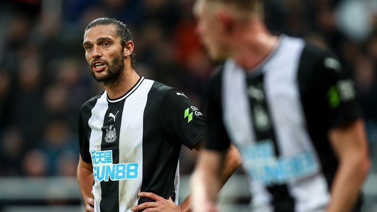 Newcastle striker Andy Carroll was set to make his first start since returning to the club