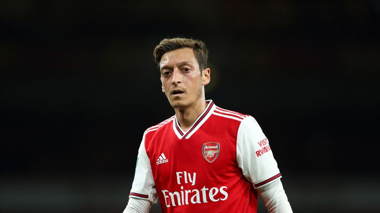 Mesut Ozil has only made two appearances this season