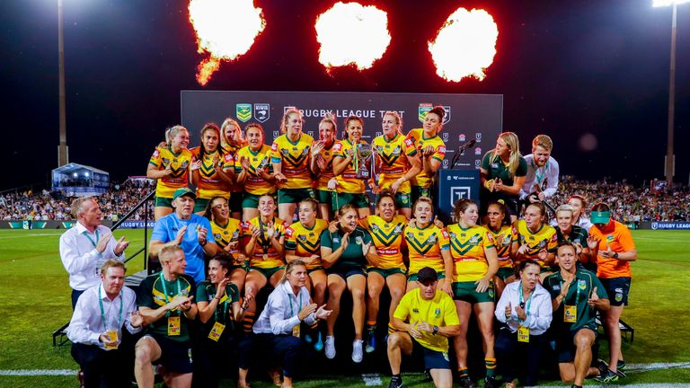 Australia's women triumphed in their clash with New Zealand as well