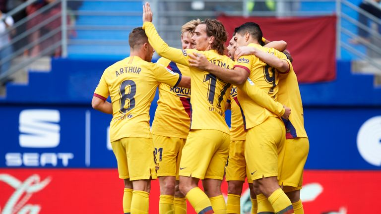 Barcelona moved to the top of La Liga after a convincing win