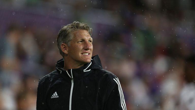 Bastian Schweinsteiger #31 of MLS All-Star looks on during the 2019 MLS All-Star Game between MLS All Stars and Atletico de Madrid at Exploria Stadium on July 31, 2019 in Orlando, Florida.