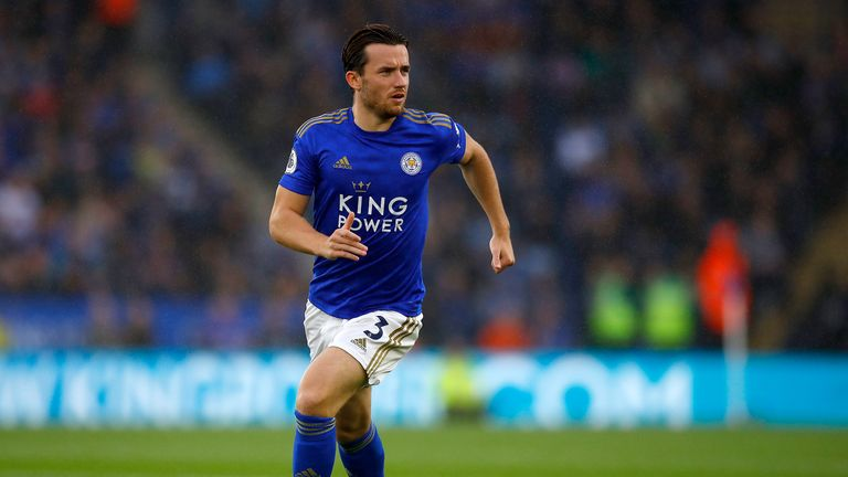Ben Chilwell in Premier League action for Leicester against Newcastle