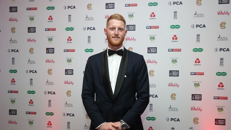 Ben Stokes was named PCA Players' Player of the Year