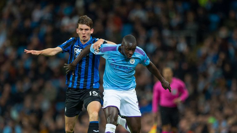 Benjamin Mendy replaced Zinchenko for the Atalanta game and is set to continue in his absence at left-back