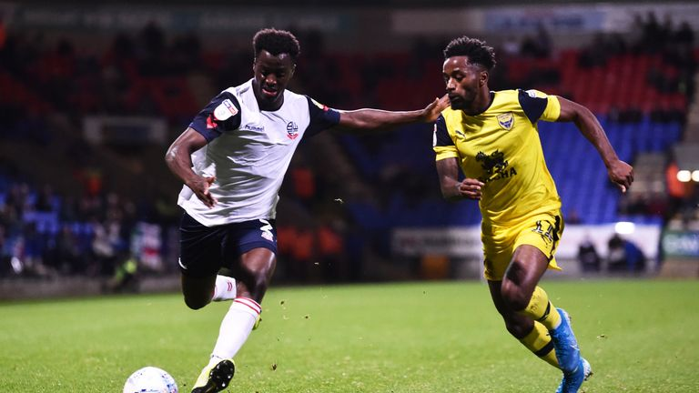 Bolton held Oxford to a goalless draw in mid-September and have lost just once since