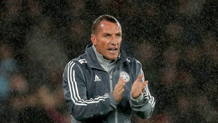 Leicester City manager Brendan Rodgers gestures on the touchline during the Premier League match at St Mary's Stadium, Southampton.