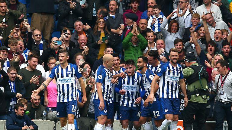 Brighton Connolly celebrates vs Spurs