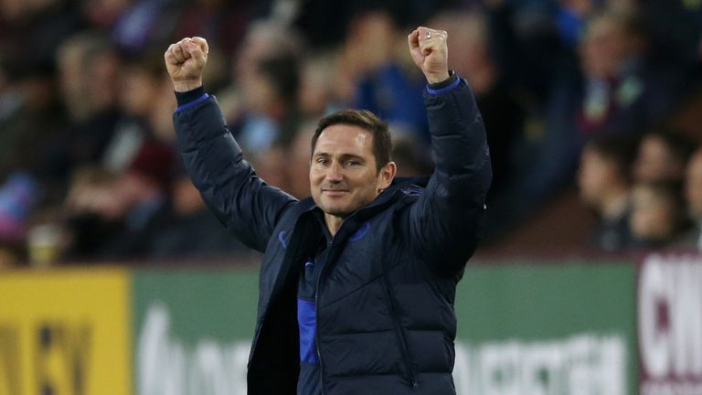 Chelsea boss Frank Lampard during the match at Burnley