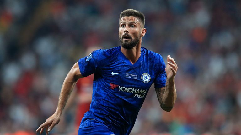 Chelsea striker Olivier Giroud has hardly featured at Stamford Bridge this term