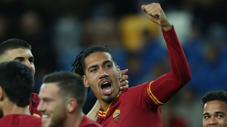 Chris Smalling was on target for Roma