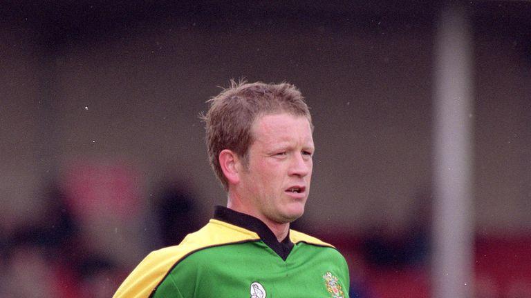Chris Wilder during his playing days at Halifax