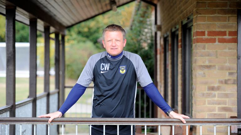 Chris Wilder during his time in charge of Oxford United