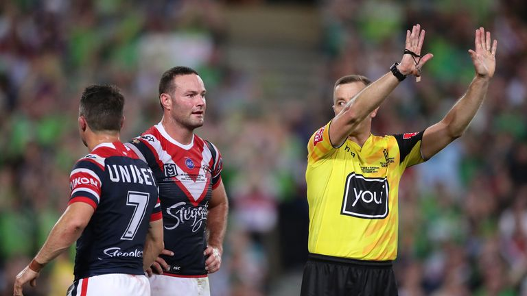 Cooper Cronk is sent to the sin-bin after being deemed guilty of a professional foul