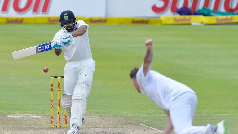 Rohit Sharma hit his second century of the match to keep India on top in the first Test against South Africa