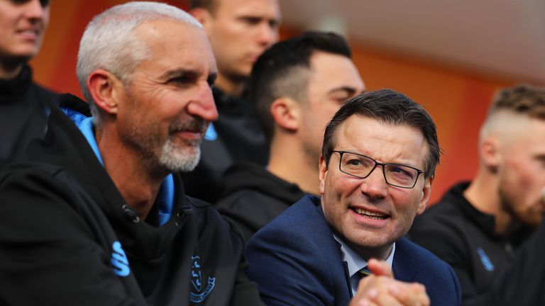 Sussex head coach Jason Gillespie and Sussex Cricket chief executive Rob Andrew