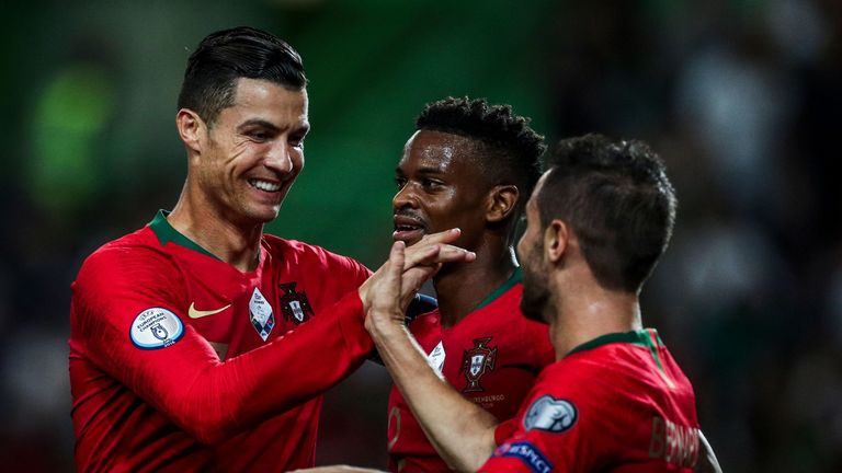 Cristiano Ronaldo is on 99 international goals for Portugal