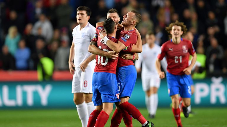 Czech Republic beat England