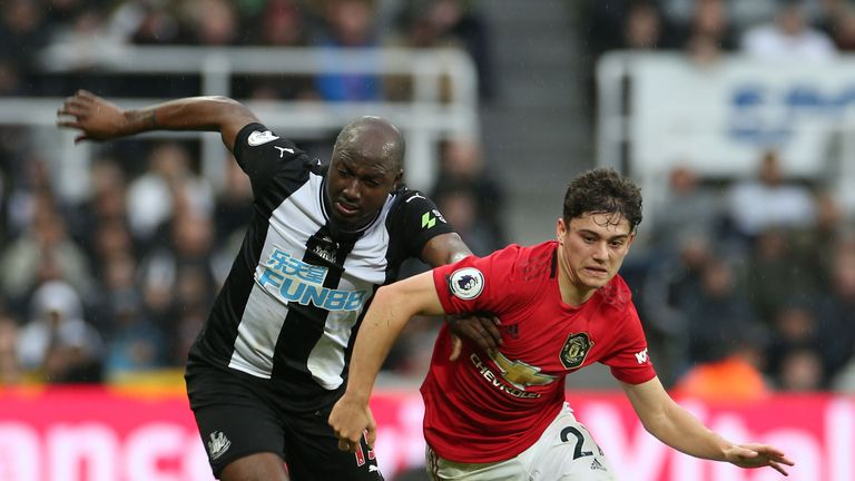Daniel James in Premier League action with Jetro Willems