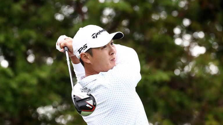 Danny Lee looked set to match Thomas but bogeyed the last