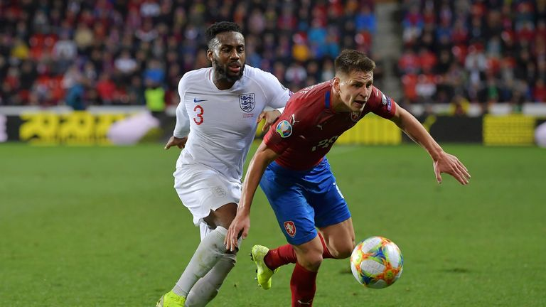 Danny Rose endured a difficult night in Prague as England surrendered a lead